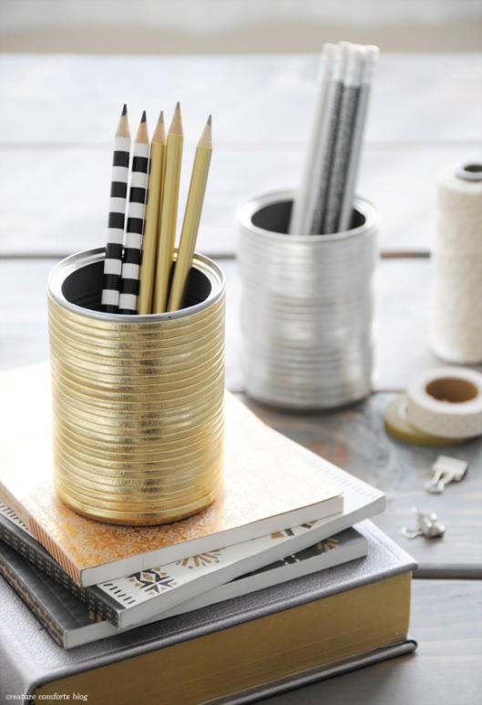 diyleatherwrappedpencilcup